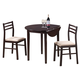 Coaster 3pc Breakfast Table Set in Cappuccino 130005