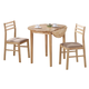 Coaster 3pc Breakfast Table Set in Natural Finish 130006