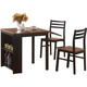 Coaster 3pc Breakfast Table Set in Black and Brown 130015
