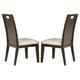 Homelegance Keller Side Chair in Dark Brown Cherry (set of 2) 1330S