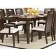 Homelegance Keller Dining Table in Dark Brown Cherry 1330-102