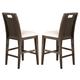 Homelegance Keller Counter Height Chair in Dark Brown Cherry (set of 2) 1330-24