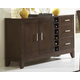 Homelegance Keller Server in Dark Brown Cherry 1330-40
