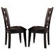 Homelegance Crown Point Side Chair in Merlot (set of 2) 1372S