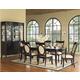 Somerton Signature 7pc Veneer-Top Leg Dining Table Set in Dark merlot 138DR