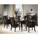 Somerton Signature 7pc Veneer-Top Leg Dining Table Set in Dark merlot 138DR2