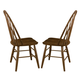 Liberty Furniture Farmhouse Windsor Back Side Chair in Weathered Oak Finish 139-C1000S (Set of 2)