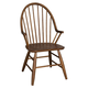 Liberty Furniture Farmhouse Windsor Back Arm Chair in Weathered Oak Finish 139-C1000A (Set of 2)