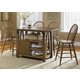 Liberty Furniture Farmhouse 5pc Island Table Set in Weathered Oak Finish 139-GT