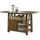 Liberty Furniture Farmhouse Center Island Table in Weathered Oak Finish 139-GT3660