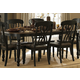 Homelegance Ohana Dining Table in Antique Black/Warm Cherry 1393BK-78