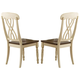 Homelegance Ohana Side Chair in Antique White/Warm Cherry (set of 2) 1393WS