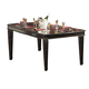 Homelegance Palace Dining Table in Rich Brown 1394-108