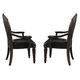 Homelegance Palace Arm Chair in Rich Brown (set of 2) 1394A