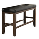 Homelegance Kirtland Counter Height Bench in Warm Oak 1399-24BH