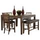 Homelegance Kirtland Dining Table in Warm Oak 1399-83