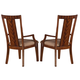 Somerton Runway Arm Chair in Warm Chestnut 140-46 (Set of 2)