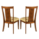 Somerton Runway Upholstered Side Chair in Warm Chestnut 140A36 (Set of 2)