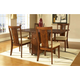 Somerton Runway 5pc Gate Leg Dining Table Set in Warm Chestnut 140DR