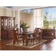 Somerton Runway 7pc Formal Dining Room Set in Warm Chestnut 140DR