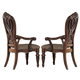 Homelegance Golden Eagle Arm Chair in Antique Caramel (set of 2) 1437A