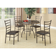 Coaster 5pc Dining Set in Brown 150112