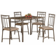 Coaster 5pc Dining Set in Black 150114