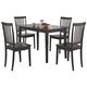 Coaster 5pc Dining Set in Cappuccino 150152