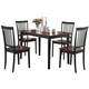 Coaster 5pc Dining Set in Cappuccino and Cherry 150153