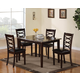 Coaster 5pc Dining Set in Brown Cherry 150157