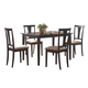 Coaster 5pc Dining Set in Black 150181N