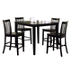 Coaster Ashland 5pc Counter Height Dining Set in Black 150231BLK