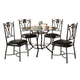 Coaster 5pc Dining Set in Black 150501