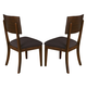 Somerton Perspective Upholstered Side chair in Chestnut Brown 152-36 (Set of 2)