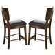 Somerton Perspective Upholstered Bar Stool in Chestnut Brown 152-38 (Set of 2)