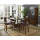 Somerton Perspective 5pc Counter Height Dining Table Set in Chestnut Brown 152DR
