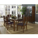 Somerton Perspective 7pc Formal Dining Room Set in Chestnut Brown 152DR