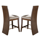 Somerton Milan Upholstered Bar Stool in Brown Stain 153-38 (Set of 2)