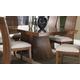 Somerton Milan Pedestal Dining Table in Brown Stain 153-62B