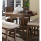 Somerton Milan Counter Height Dining Table in Brown Stain 153-68 CLEARANCE