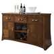Somerton Milan Server in Brown Stain 153-73 CLEARANCE