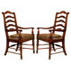 Hooker Furniture Waverly Place Ladderback Arm Chair in Sporty Cognac Fabric (Set of 2) 366-75-400 SALE Ends Dec 03