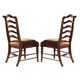 Hooker Furniture Waverly Place Ladderback Side Chair in Sporty Cognac Fabric (Set of 2) 366-75-410 SALE Ends Oct 22