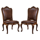 Universal Furniture Villa Cortina Upholstered Leather Back Side Chair 409638L-RTA-C (Set of 2)