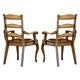 Hooker Furniture Vineyard Ladderback Arm Chair (Set of 2) 478-75-300 CLEARANCE