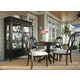 Universal Furniture Summer Hill 5PC Round Single Pedestal Dining Set w/ Pierced Back Chairs in Midnight CODE:UNIV20 for 20% Off