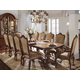 Universal Furniture Villa Cortina Double Pedestal Rectangular Dining Set