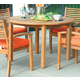 Acme Coastal Outdoor Wooden Round Dining Table 16105