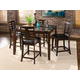 Standard Furniture Bella Counter Height Table Dining Set in Walnut 16856