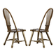 Liberty Furniture Treasures Sheaf Back Side Chair in Rustic Oak Finish 17-C1032 (Set of 2)
